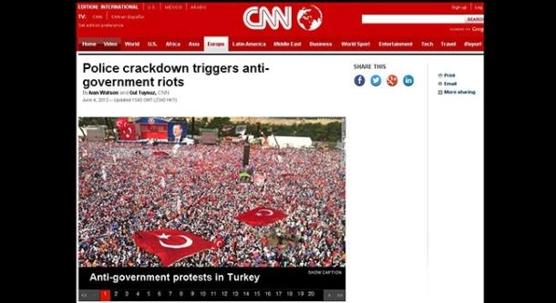 Tepkiler sonrası CNN söz konusu Kazlıçeşme fotoğrafını düzeltmişti.